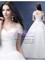 wm5115 ขาย ชุดแต่งงาน เจ้าหญิงเรียบหรู เปิดไหล่ ใส่ถ่ายพรีเวดดิ้ง สวยหรู ดูดีที่สุดในโลก ราคาถูกกว่าเช่า