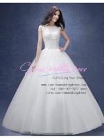 wm5121 ขาย ชุดแต่งงาน เจ้าหญิงเรียบหรู ใส่ถ่ายพรีเวดดิ้ง สวยหรู ดูดีที่สุดในโลก ราคาถูกกว่าเช่า