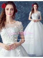 wm5107 ขาย ชุดแต่งงาน เจ้าหญิงแขนสั้น ใส่ถ่ายพรีเวดดิ้ง สวยหรู ดูดีที่สุดในโลก ราคาถูกกว่าเช่า