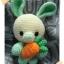 กระต่ายถือแครอท มินิอุซางิ สีเขียว thumbnail 1