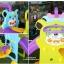 สไลเดอร์พร้อมแป้นบาสและชิงช้าพี่หมี 3in1 รุ่น LNZ9017-2 thumbnail 5