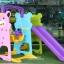 สไลเดอร์พร้อมแป้นบาสและชิงช้าพี่หมี 3in1 รุ่น LNZ9017-2 thumbnail 6