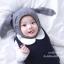 หมวกไหมพรมเด็กกระต่ายหูยาวสีเทา thumbnail 5