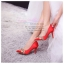 X-006 ขาย รองเท้าออกงาน ราคาถูก ใส่ไปงานแต่งงานกลางคืน ไปงานแต่งงานกลางวัน สวย หรู น่ารักมาก สีแดง เหมาะกับยกน้ำชา thumbnail 4