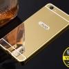 เคส Vivo V5 - เคสขอบโลหะ ฝาหลังกระจกเงาสไลด์[Pre-Order]