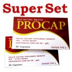 (ขายดี) Super Set (เซ็ทลดด่วน 3-5kg/เดือน) Procap2กล่อง>สำหรับ1เดือน : อาหารเสริมลดน้ำหนัก ส่วนผสมนำเข้าจาก USA, สูตร3in1 บล็อกแป้ง เร่งเผาผลาญ พร้อมช่วยลดหิวระหว่างมื้อ ทานตัวเดียวจบ ครบทุกความต้องการ (อย.12-1-05150-1-0139)