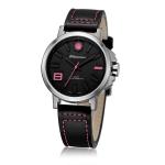 นาฬิกาข้อมือสายหนัง แบรนด์ Litwanner รุ่น MP13002L - Pink - ขอบสแตนเลส