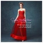 L-0112 ชุดไปงานแต่งงาน สีแดง สวย หรู เซ็กซี่ ราคาถูกกว่าเช่า