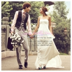 WM40015 ขาย ชุดแต่งงานทรงเอมไพร์ เหมาะมากสำหรับเจ้าสาวอกเล็ก ราคาถูก ที่สุดในโลก