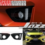 ครอบไฟตัดหมอก DRL Day time running Light LED Honda jazz 2014-2015