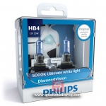 Philips หลอดไฟ HB4 9006 DIAMOND VISION ULTIMATE WHITE PLUS 40% แสงขาว 5000K