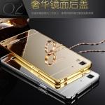 เคส Oppo R7 Lite - เคสฝาหลังกระจกเงา PC Cover + Metal Frame Case [Pre-Order]