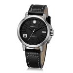 นาฬิกาข้อมือสายหนัง แบรนด์ Litwanner รุ่น MP13002L - White - ขอบสแตนเลส