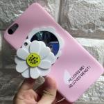 case Oppo F1s - เคสแข็งผิวกำมะหยี่ ประดับดอกไม้น่ารัก มีกระจกด้านหลัง [Pre-Order]