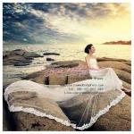 ws50007 ขาย ชุดแต่งงานสั้น ราคาถูก แบบเกาะอก สวยหวานสไตล์เกาหลี สำหรับงานแต่งริมทะเลสุดโรแมนติค