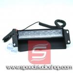 LED ไฟฉุกเฉินขอทาง 8 จุด กระพริบสีน้ำเงิน/แดง (สีดำ)