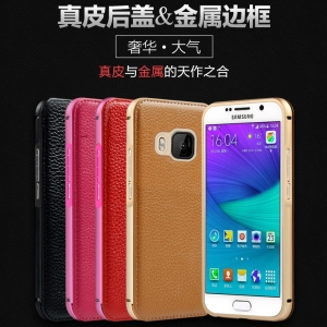 เคส HTC M9 - Leather + Metal case [Pre-Order]