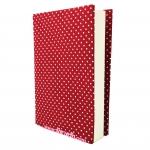"""ปกผ้าพื้นแดง Polka Dot เนื้อผ้าคอตต้อนญี่ปุ่น(โตไก) ขนาด 8"""""""