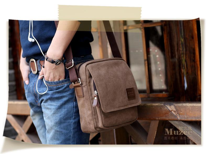 กระเป๋าสะพายไหล่ Muzee No.5 Khaki