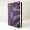 """ปกผ้าพื้นม่วง Polka Dot เนื้อผ้าคอตต้อน ขนาด 8"""" ( Pocket Book )"""