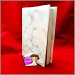 ปกผ้า ใส่หนังสือแจ่มใสเล่มบางได้ ไม่เกิน 250หน้า