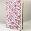 """ปกผ้าพื้นขาว ลายดอกแดง เนื้อผ้าคอตต้อนญี่ปุ่น(โตไก) สำหรับหนังสือขนาด 200 หน้าขึ้นไป ขนาด 8.2"""" thumbnail 1"""
