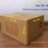 กล่องไปรษณีย์ฝาชนสีน้ำตาล No.M+ (35x45x25 cm.)